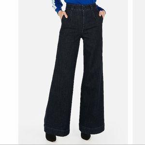 NWT express super high waist wide leg jeans
